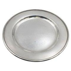 Georg Jensen Hammered Sterling Silver Modern Platter Tray Plate in Pattern 210F