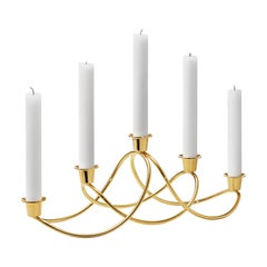 Georg Jensen Harmony Candleholder in Gold-Plated by Maria Berntsen