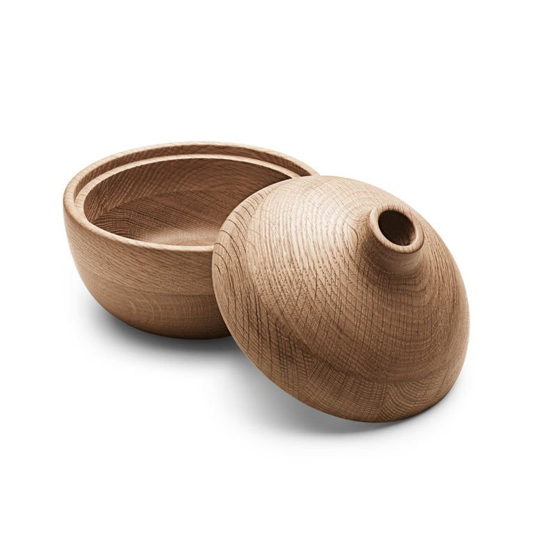 Modern Georg Jensen HK Bonbonniere in Oak Wood by Henning Koppel For Sale