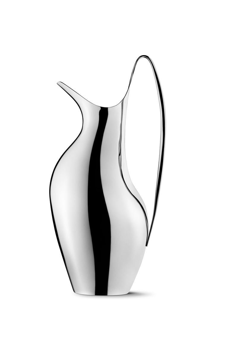 Georg Jensen HK Pitcher in Stainless Steel Mirror Finish by Henning Koppel In New Condition For Sale In New York, NY