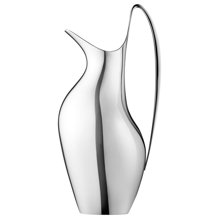 Georg Jensen HK Pitcher in Stainless Steel Mirror Finish by Henning Koppel For Sale