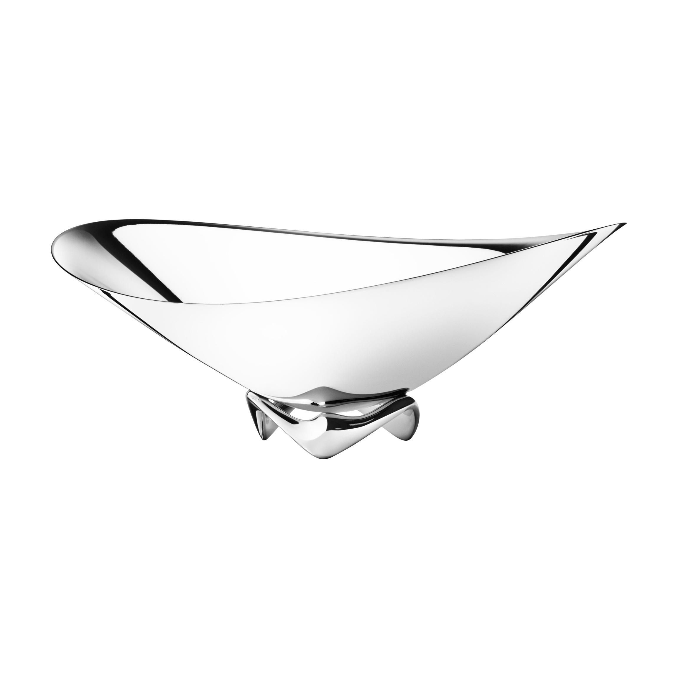 Georg Jensen HK Wave Bowl in Stainless Steel by Henning Koppel