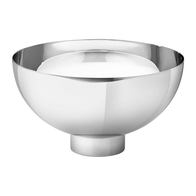 Georg Jensen Ilse Medium Bowl in Stainless Steel Mirror Finish by Ilse Crawford, new, Georg Jensen