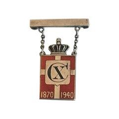 Georg Jensen Kingsmark Pin in Sterling Silver, 1870-1940