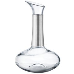 Georg Jensen Koppel Crystal Carafe with Silver Wire by Henning Koppel