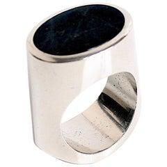 Georg Jensen Labradorite Ring Designed by Andreas Mikkelsen, Denmark
