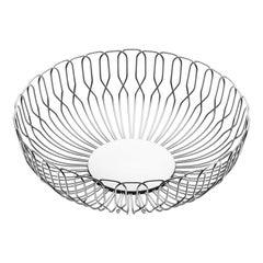 Georg Jensen Large Alfredo Bread Basket in Stainless Steel by Alfredo Häberli
