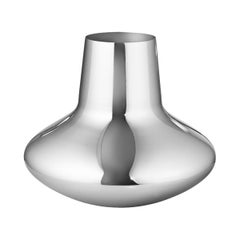 Georg Jensen Large Vase in Stainless Steel by Henning Koppel