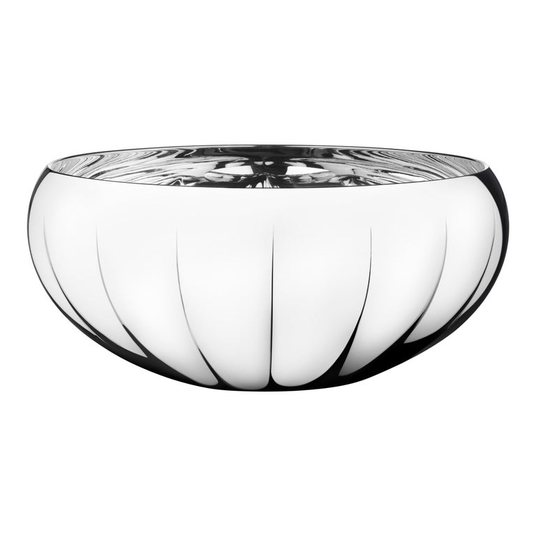 Georg Jensen Legacy Large Bowl in Stainless Steel by Philip Bro Ludvigsen For Sale