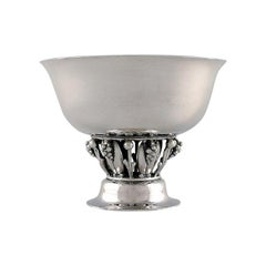 """Georg Jensen, """"Louvre"""" Bowl / Compote in Sterling Silver, Art Nouveau Style"""