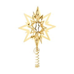 Georg Jensen Medium Christmas Tree Star in Gold Brass by Flemming Eskildsen