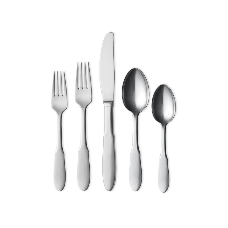Modern Georg Jensen Mitra 5-Piece Cutlery Giftbox in Steel by Gundorph Albertus For Sale