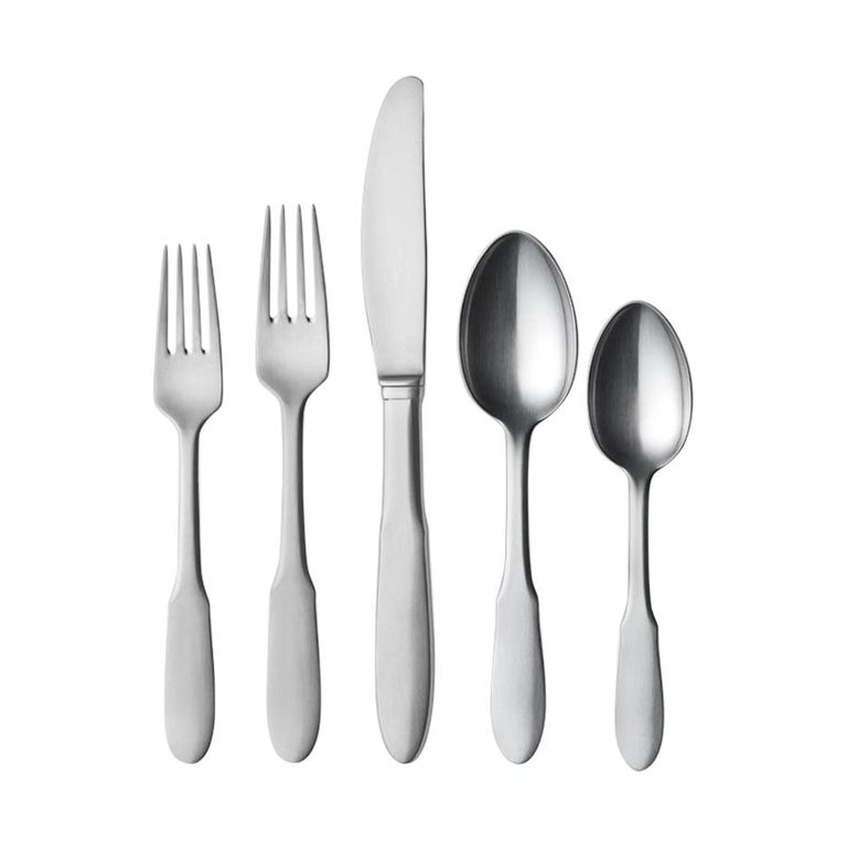 Georg Jensen Mitra 5-Piece Cutlery Giftbox in Steel by Gundorph Albertus For Sale