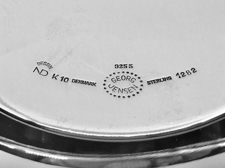 Hammered Georg Jensen Modern Bowl 1282 by Nanna Ditzel For Sale