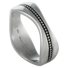 Georg Jensen Modern Silver Band Ring