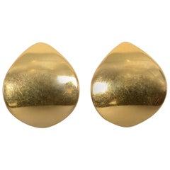 Georg Jensen Modernist Gold Earrings