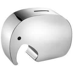 Georg Jensen Moneyphant Money Bank in Stainless Steel by Jørgen Møller