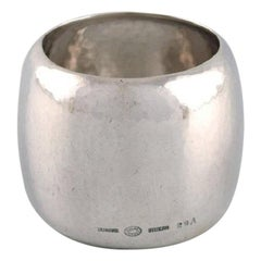 Georg Jensen Napkin Ring in Hammered Sterling Silver, Model Number 29A