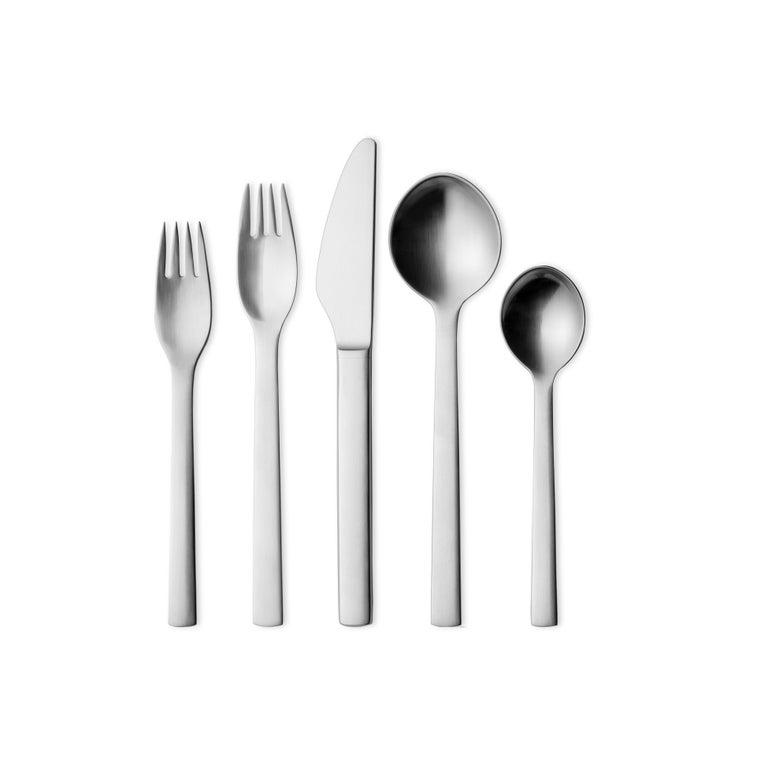 Modern Georg Jensen New York Cutlery Giftbox in Stainless Steel by Henning Koppel For Sale