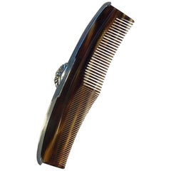 Georg Jensen og Wendel Sterling Silver Comb No 4000Comb with Silver Mounting Har