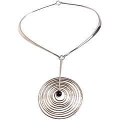 Georg Jensen pendant & neckring designed by Bent Gabrielsen Denmark