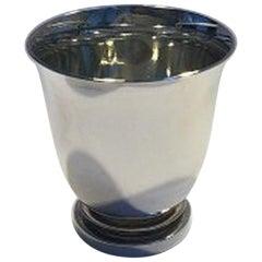 Georg Jensen Pyramid Sterling Silver Cigarette / Bar Cup No 660A
