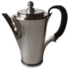Georg Jensen Pyramid Sterling Silver Coffee Pot No 600C