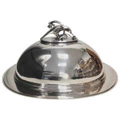 Georg Jensen Pyramide Sterling Silver Game Tray with Cover No 600 S and T
