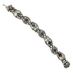 Georg Jensen Rare Moonstone Sterling Silver Bracelet No. 3 1933-1944