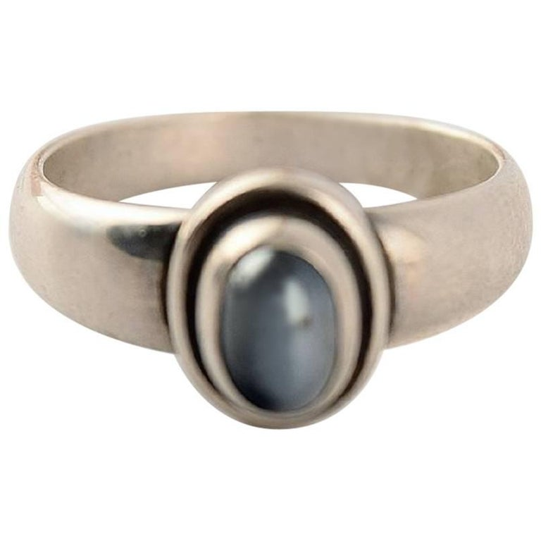 Georg Jensen Ring of Sterling Silver after 1945 For Sale