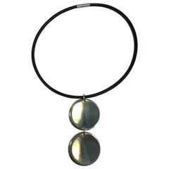 Georg Jensen Rubber Neck Ring and Sterling Silver Pendant No 450