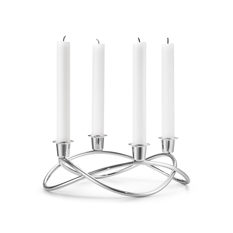 Polished Georg Jensen Season Candleholder in Stainless Steel by Maria Berntsen For Sale