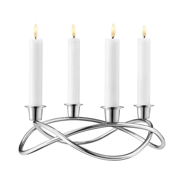 Georg Jensen Season Candleholder in Stainless Steel by Maria Berntsen For Sale