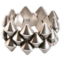 Georg Jensen Silver Bracelet Designed by Arno Malinowski Denmark Georg Jensen