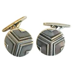 Georg Jensen Silver Cuff Links No 60B