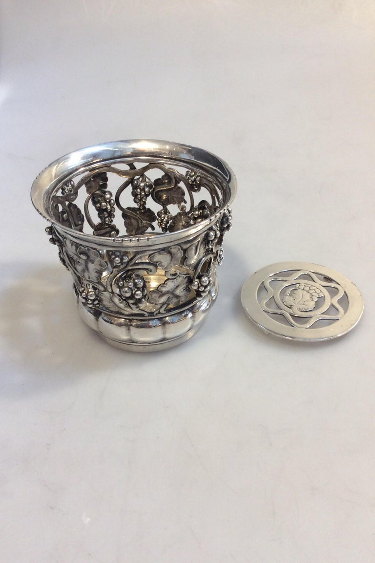 Hand-Crafted Georg Jensen Silver Wine Coaster No 289 Vintage from the 1920s For Sale