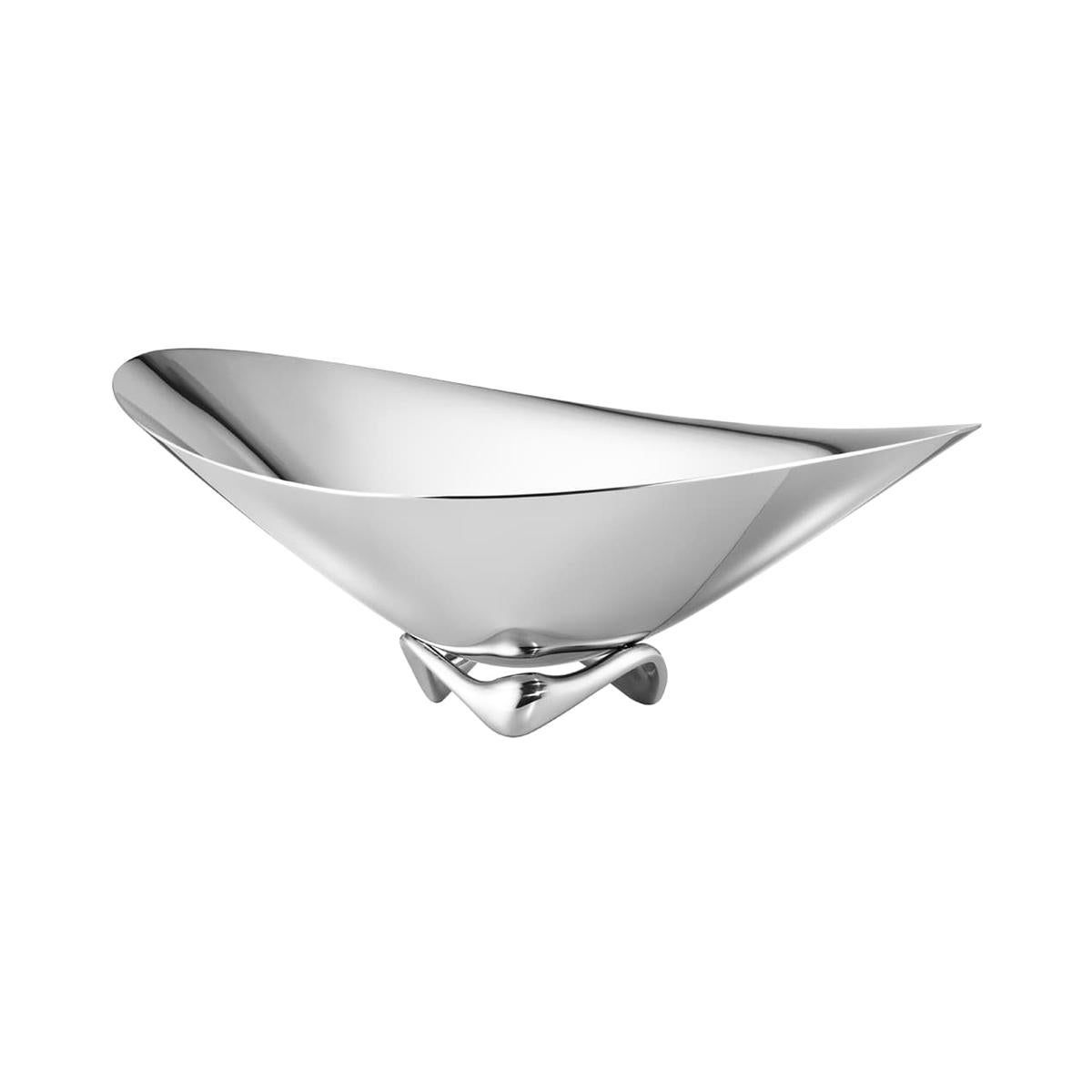 Georg Jensen Small Wave Bowl in Stainless Steel by Henning Koppel