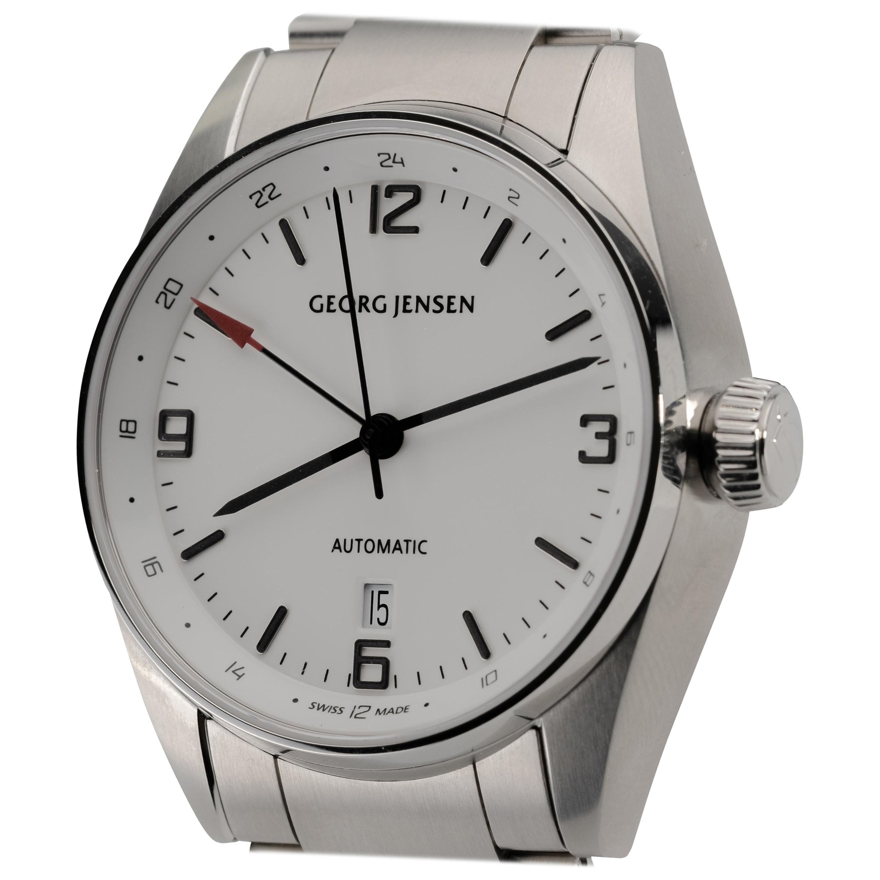 Georg Jensen Stainless Steel Automatic Watch