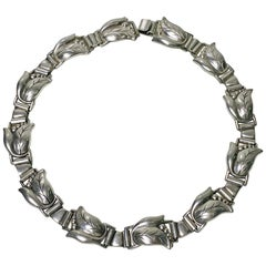 Georg Jensen Sterling Necklace, circa 1940
