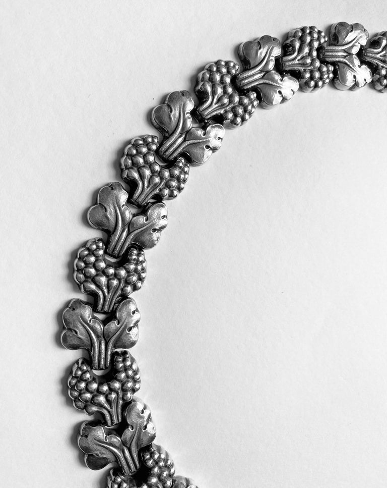 Danish Georg Jensen Sterling Paris Model Necklace Denmark, circa 1945