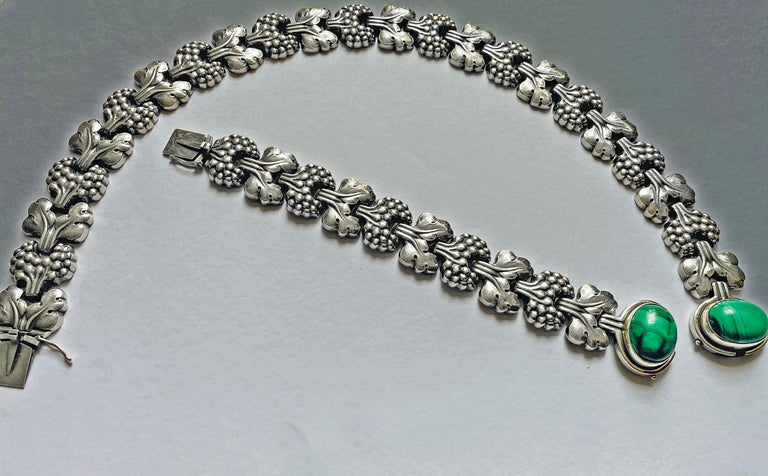 Georg Jensen Sterling Paris Model Necklace Denmark, circa 1945 2