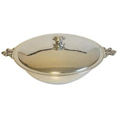 Georg Jensen Sterling Silver Acorn Lidded Bowl No 642 L