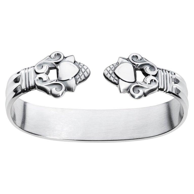 Georg Jensen Sterling Silver Acorn Napkin Ring by Johan Rohde For Sale