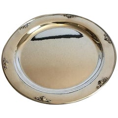 Georg Jensen Sterling Silver Acorn Serving Tray No 642C, Designed by Johan Rohde