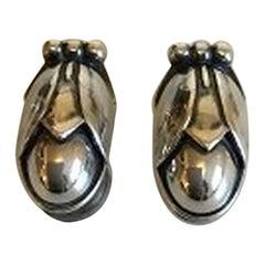 Georg Jensen Sterling Silver Annual Ear Clips, 2011