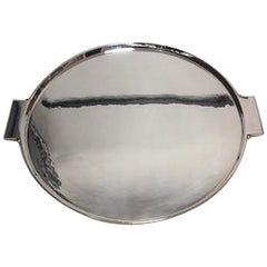 Georg Jensen Sterling Silver Art Deco Tray by Johan Rohde no 529 A