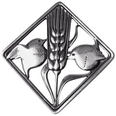 Georg Jensen Sterling Silver Birds Brooch