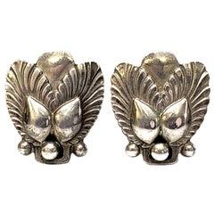 Georg Jensen Sterling Silver Bittersweet Screwback Earrings #110