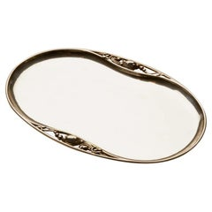 "Georg Jensen Sterling Silver ""Blossom"" Oval Tray, No. 2P"