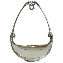 Georg Jensen Sterling Silver Bowl for Hanging Grapes No 542 from 1925-1933